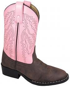 Smoky Mountain Youth Girls' Monterey Western Boots - Round Toe