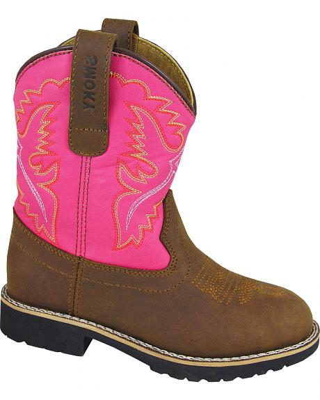 Smoky Mountain Youth Girls' Colby Western Boots - Round Toe