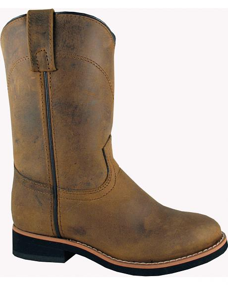 Smoky Mountain Youth Boys' Muskogee Roper Western Boots - Round Toe