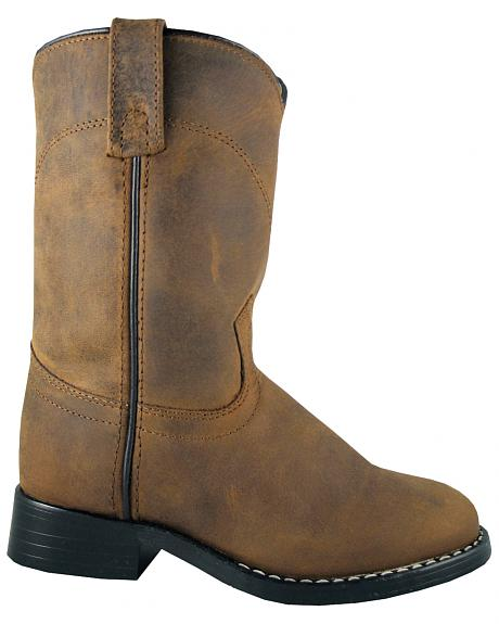 Smoky Mountain Youth Boys' Roper Western Boots - Round Toe