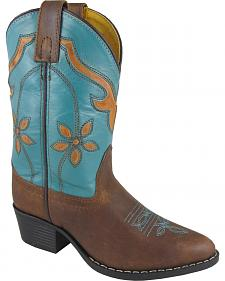 Smoky Mountain Youth Girls' Cactus Flower Western Boots - Medium Toe