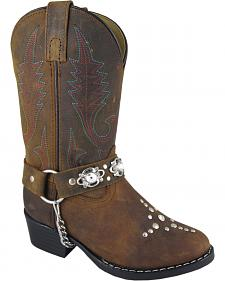 Smoky Mountain Youth Girls' Starlight Western Boots - Round Toe