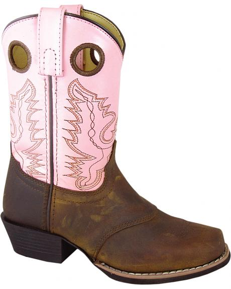 Smoky Mountain Youth Girls' Sedona Pink Western Boots - Square Toe