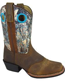 Smoky Mountain Youth Boys' Sedona Camo Western Boots - Square Toe
