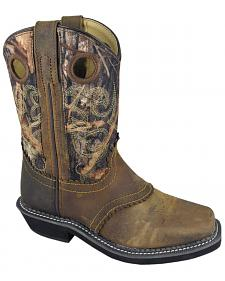 Smoky Mountain Youth Boys' Pawnee Camo Western Boots - Square Toe