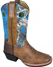 Smoky Mountain Youth Girls' Mesa Camo Western Boots - Square Toe
