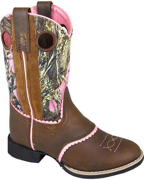 Smoky Mountain Youth Girls' Ruby Belle Camo Western Boots - Round Toe