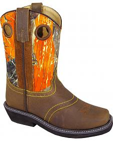 Smoky Mountain Youth Boys' Cypress Camo Western Boots - Square Toe