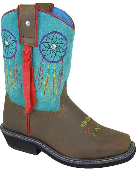 Smoky Mountain Youth Girls' Dreamcatcher Western Boots - Square Toe