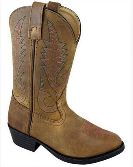 Smoky Mountain Youth Girls' Annie Western Boots - Round Toe