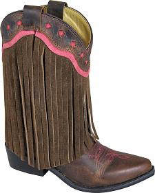 Smoky Mountain Youth Girls' Helena Fringe Western Boots - Medium Toe
