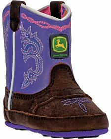 John Deere Infant Girls' Johnny Popper Western Crib Boots