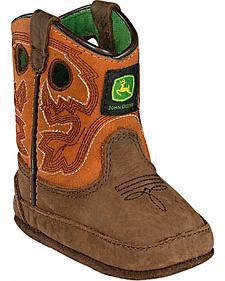 John Deere Infant Boys' Johnny Popper Western Crib Boots