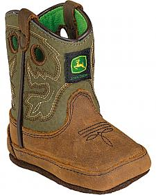 John Deere Infant Boys' Johnny Popper Western Crib Boots