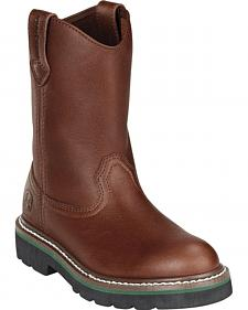 John Deere Boys' Johnny Popper Roper Western Boots - Round Toe