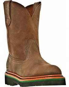 John Deere Boys' Johnny Popper Western Boots - Round Toe