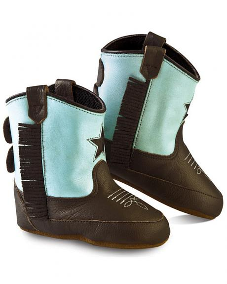 Old West Girls' Infant Brown and Turquoise Poppets