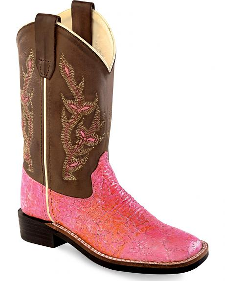 Old West Girls' Western Boots - Square Toe