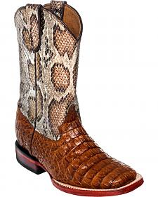 Ferrini Boys' Crocodile Print Western Boots - Square Toe