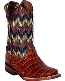 Ferrini Boys' Crocodile Print Sport Western Boots - Square Toe