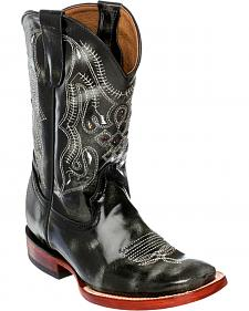 Ferrini Boys' Marble Cowhide Western Boots - Square Toe