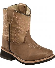 Swift Creek Toddler Girls' Brown Cowgirl Boots - Square Toe
