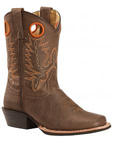 Swift Creek Boy's Brown Cowboy Boots - Square Toe