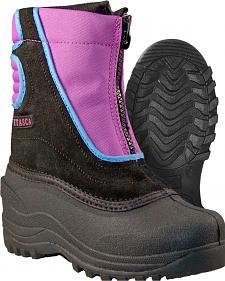 Itasca Girls' Pink Snow Stomper Winter Boots - Round Toe