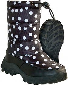 Itasca Girls' Polka Dot Snow Scamp Winter Boots - Round Toe