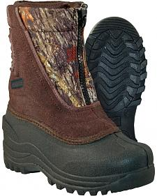 Itasca Boys' Camo Snow Stomper Winter Boots - Round Toe