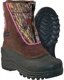Itasca Girls' Camo Snow Stomper Winter Boots - Round Toe