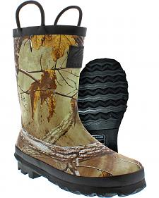 Itasca Youth Boys' Realtree AP Puddle Jumper Rubber Boots
