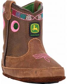 John Deere Infant Girls' Johnny Popper Western Crib Boots