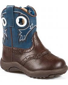 Roper Infant Boys' Blue and Brown Cowbaby Boots