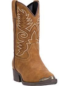 Laredo Boys' Tan Tobi Cowboy Boots - Round Toe