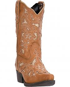 Laredo Girls' Tan Sharona Boots - Snip Toe