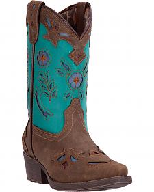 Laredo Girls' Little Kate Cowgirl Boots - Snip Toe