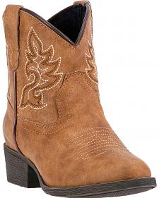 Laredo Girls' Tan Chloe Cowgirl Boots - Round Toe