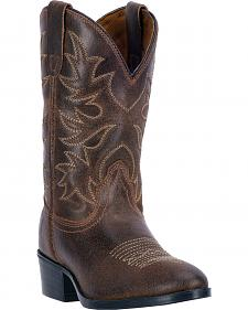 Dan Post Boys' Youth Brown Carter Cowboy Boots - Round Toe