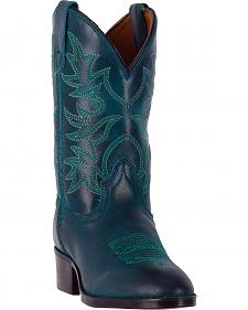 Dan Post Girls' Turquoise Carter Cowgirl Boots - Round Toe