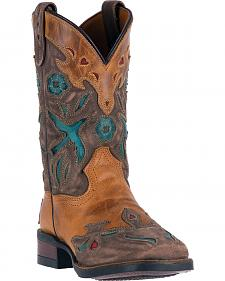 Dan Post Girls' Bluebird Cowgirl Boots - Snip Toe