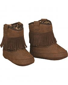 Blazin Roxx Brown Baby Bucker Annabelle Booties