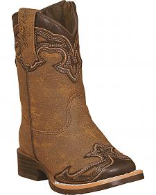 Blazin Roxx Toddler Girls' Samantha Zipper Cowgirl Boots - Square Toe
