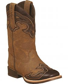Blazin Roxx Girls' Samantha Zipper Cowgirl Boots - Square Toe
