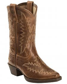 Ariat Girls' Tan Brooklyn Cowgirl Boots - Snip Toe