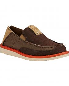 Ariat Kid's Chocolate Cruiser Shoes - Moc Toe