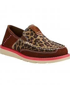 Ariat Youth Girl's Cheetah Print Cruiser - Moc Toe