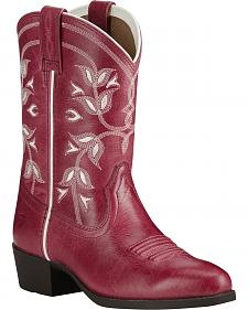 Ariat Girl's Pink Desert Holly Boots - Medium Toe