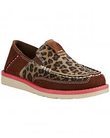 Ariat Kid's Cheetah Print Cruiser - Moc Toe