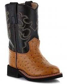 Cody James Boys' Ostrich Print Western Boots - Round Toe